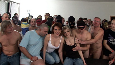 Czech Gangbang party